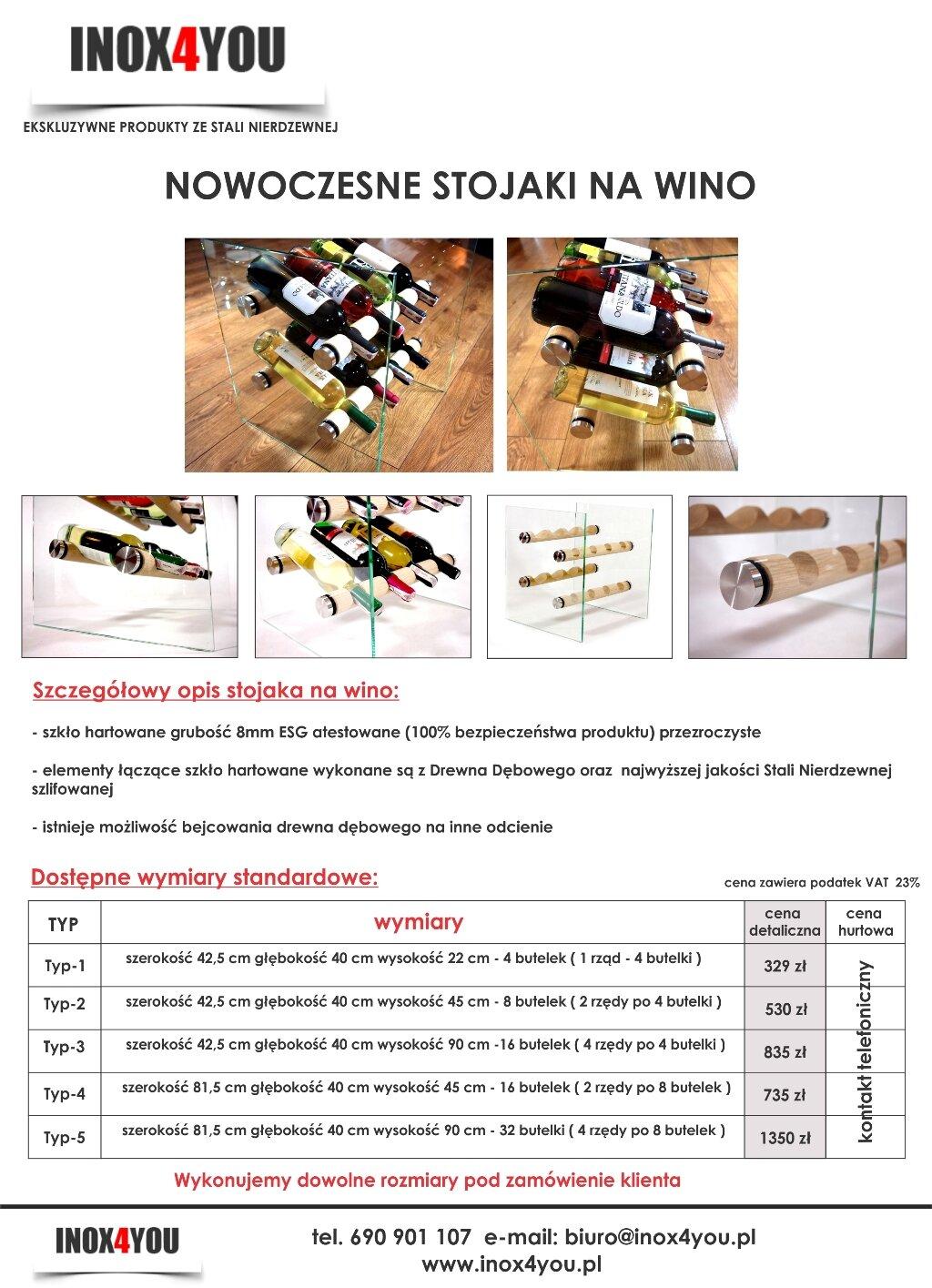 Katalog stojak na wina